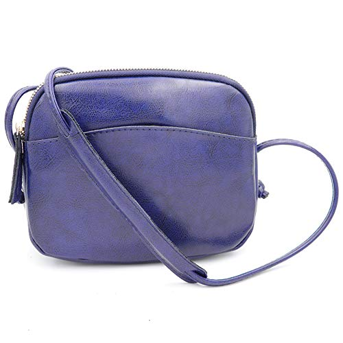 Purse Crossbody Cell Women Realleather blue Small Phone Genuine for Handbag Shoulder Bag Leather EURwq0
