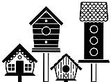 Embossing Folder Birdhouse Post Paper Craft Supply (6 Pack)