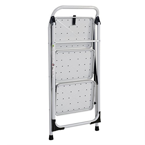 onestops8 Protable 3 Step Ladder Folding Non Slip Safety Tread Heavy Duty Industrial Home by onestops8 (Image #4)