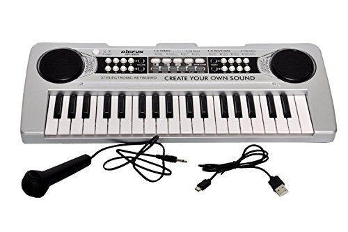 Toyshine 37 Keys Piano with DC output USB Charging USB Incl