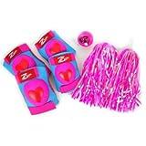Zefal Girls Z-Kids Fun Pack Pad Kit & Bell, Pink