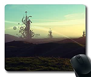 Comfortable Mouse Pad Printed On Beautiful Line On Sunday Durable Game Mouse Pad