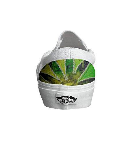 Unisex - Adulto Make Your Shoes vans con stampa artigianale personalizzata prodotto bob marley tg