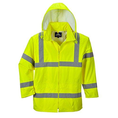 Portwest Waterproof Rain Jacket, Lightweight, Yellow, Large
