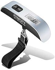 Etekcity EL11 Báscula de Equipaje Digital, Escala de Equipaje de Mano, Balanza de Maleta Portátil, hasta 50 kg con Sensor de Temperatura, Función de Tara y Datos Bloqueados, para Viajes y Casa