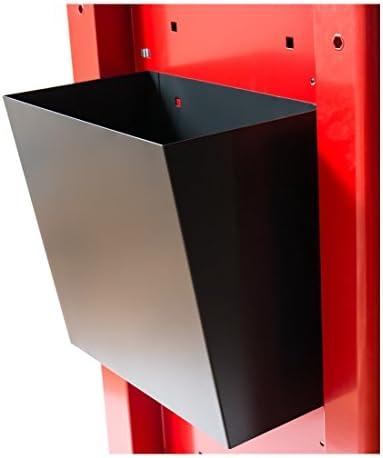 STIER Papierkorb für den STIER Werkstattwagen leer, Farbe Anthrazit, zur Aufnahme von Abfall, Müllkorb als Zubehör für Werkstattwagen, Variabel montierbar