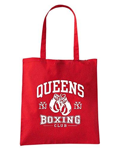 T-Shirtshock - Bolsa para la compra TBOXE0112 queens boxing Rojo
