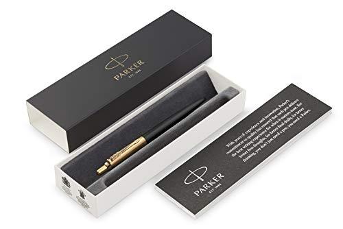 (Parker Jotter Premium Bond Street Black GT Ballpoint Pen, Gift Box)