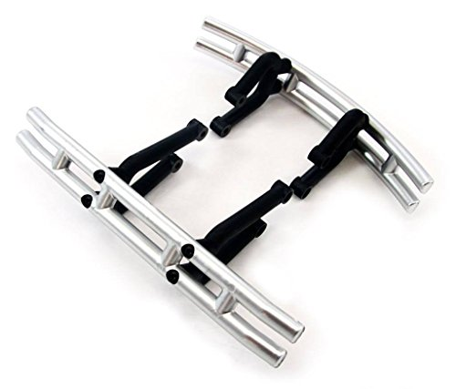 Traxxas T-Maxx 2.5 Classic * FRONT & REAR SATIN CHROME BUMPERS & MOUNTS