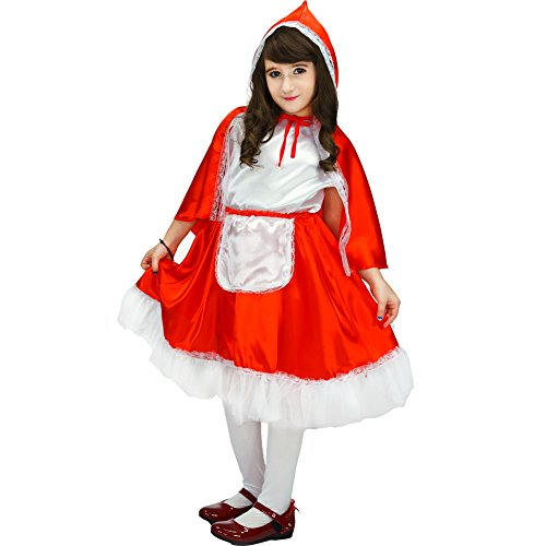 Big Girls Deluxe Little Red Riding Hood Costume 7 9 Years Red