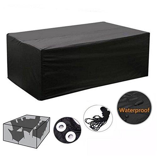 Hosaire Patio Furniture Set Cover Black Waterproof Garden Patio Set Cover Table Chair Set Cover 48 x 48 x 29 (Black Patio Furniture Covers)