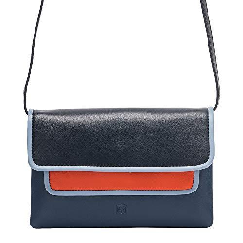 à Dudu Nappa marine une forme en multicolore avec pour à rectangulaire Sac de femme couleur cuir bandoulière rabat qXdFnw1