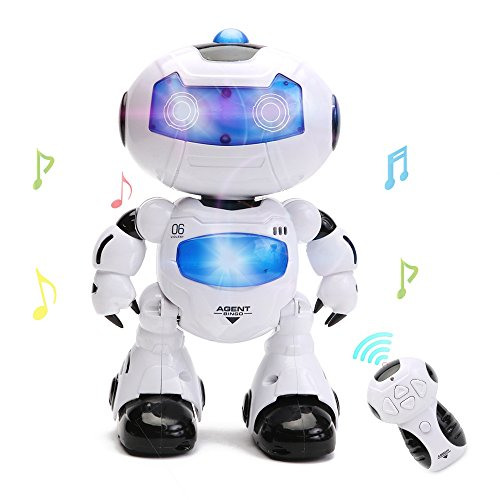 HANMUN Electronic RC Robot Learning Toys Xq16006 Toddler Intelligent Action Dancing Remote Control Robot Toys with Music Lights