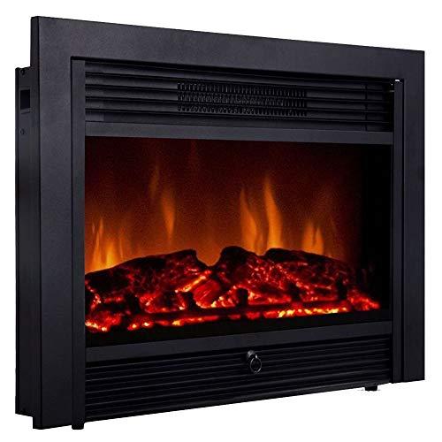 Cheap Thaweesuk Shop Black Embeddable Electric Wall Insert Fireplace 28.5