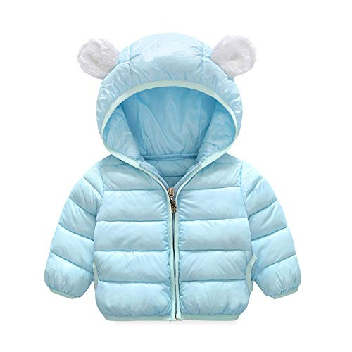 VEKDONE Winter Coats Kids Ear Hoods Light Puffer Jacket Baby Boys Girls, Infants, Toddlers