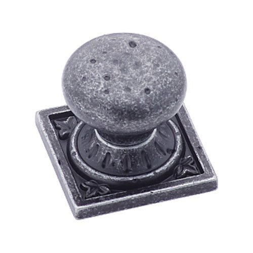 Amerock BP4484WID Ambrosia Euro Stone Square Knob, Wrought Iron Dark, 1-1/4-Inch by Amerock