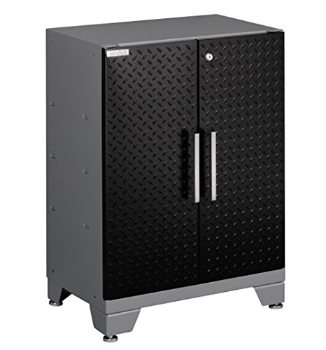 NewAge Products Performance Diamond Plate Series Two Door Base Cabinet, 30 by 24 by 16