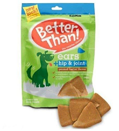 36 Pack BETTER THAN EARS PIG Dog Treats PEANUT BUTTER HIP & JOINT FRESH ()