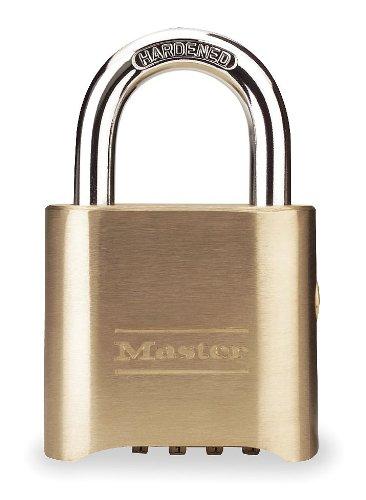 Master Lock 176-P380 Brass Combination Padlock