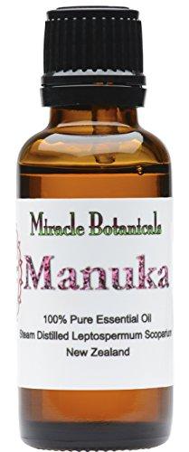 Miracle Botanicals Wildcrafted Manuka Essential Oil - 100% Pure Leptospermum Scoparium - Therapeutic Grade - 30ml