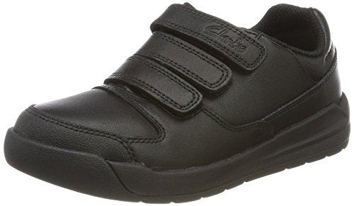 Clarks Flare Lite Inf, Zapatillas Para Niños Negro (Black Leather)