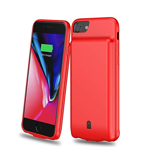 - Battery Case for iPhone 6/6s/7/8, 4500mAh Extended Rechargeable Charging Case Portable Power Bank External Battery Pack Protective Charger Case for iPhone 6, 6s, 7, 8 (4.7in) (Red)