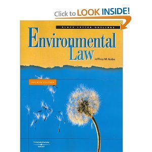 Read Online Black Letter Outline on Environmental Law4th (Fourth) Edition byGaba ebook