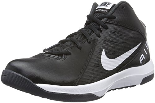 Nike Mens The Air Overplay IX Basketball Shoe (10.5 D(M) US, Black/White/Anthracite/Dark Gry) (Shoes Basket Ball Nike compare prices)