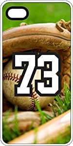 Baseball Sports Fan Player Number 73 White Rubber Decorative iphone 5s Case