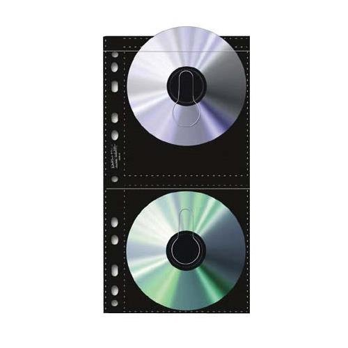 Print File Archival CD / DVD Storage Pages, 4 CD's Per Page, Pack Of 25