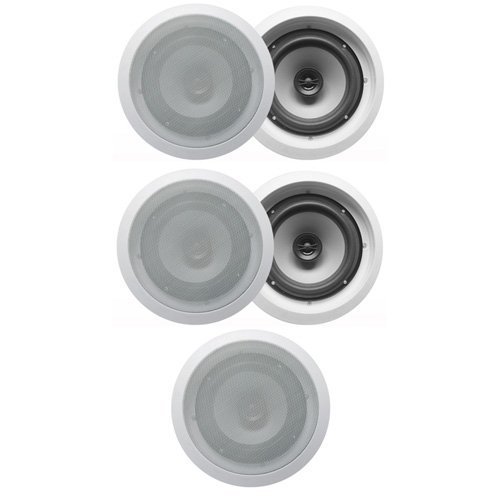 Acoustic Audio CS-IC62 In Ceiling 6.5'' Home 5 Speaker Set 2 Way 1250W CS-IC62-5S by Acoustic Audio by Goldwood