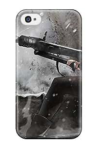 Jon Bresina's Shop gunsss tank tops pinkorange Anime Pop Culture Hard Plastic iPhone 4/4s cases 8584283K128116304