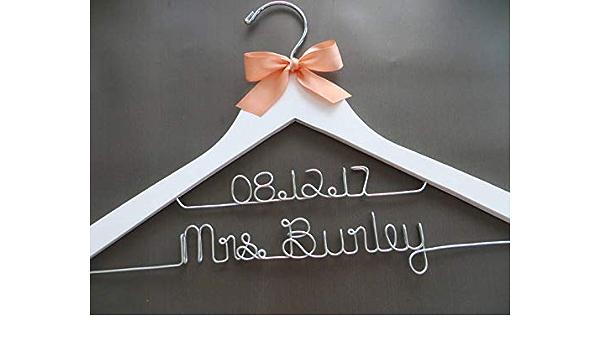 Custom Hanger,Mrs Hanger,Shower Gift Disney wedding hanger,beauty and the beast hanger Personalized wedding Hanger,Disney Princess hanger