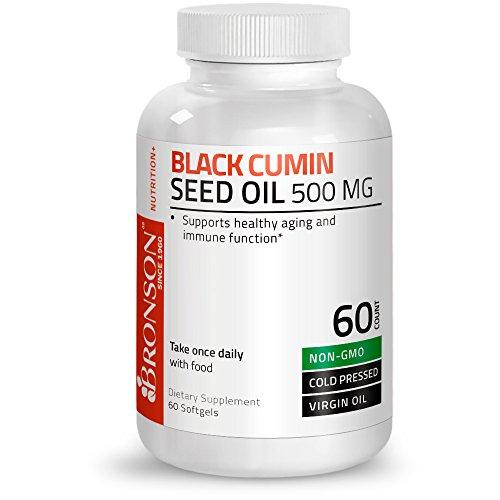 Bronson Black Cumin Seed Oil 500 mg Premium Non-GMO Cold Pressed Formula, 60 Softgels by Bronson (Image #3)