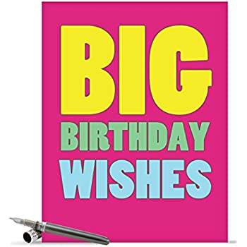 Amazon j3900bdg jumbo birthday greeting card big happy j2720bdg jumbo birthday card big birthday wishes with envelope big size 85 x 11 bookmarktalkfo Gallery