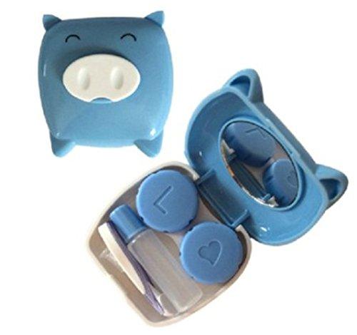 U-beauté Nouvelle Arrivée Kit Belle Blie Pig Contact Lens Case Box Set Avec Petit Miroir pour Voyage