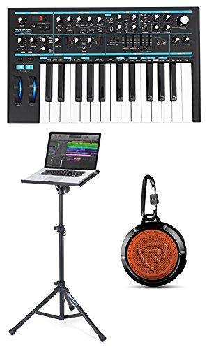 Novation BASS STATION II 25-Key MIDI USB Analog Keyboard+Laptop Stand+Speaker by Novation