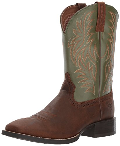 Ariat Men's Sport Western Wide Square Toe Work Boot, Rafter Tan, 10.5 D US ()