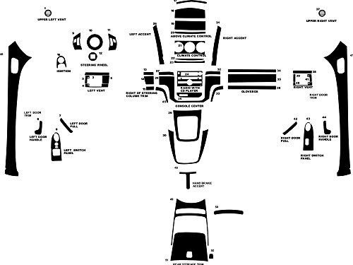 - Rdash Dash Kit Decal Trim for Saturn Sky 2007-2009 - Matte (Silver)