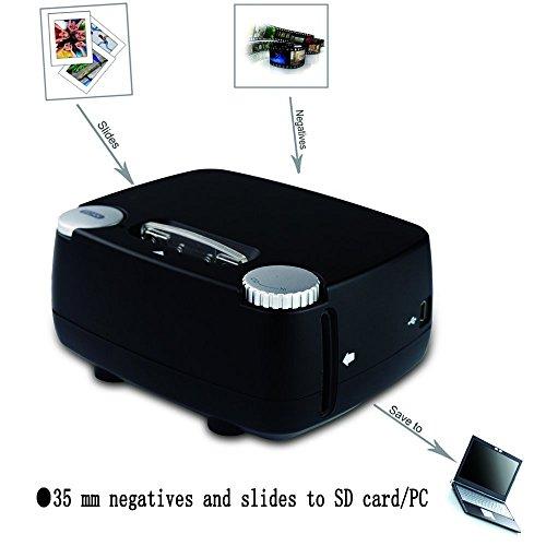 Slide & Film Scanner for 135 / 35mm Negative & Slide Digitizing, Compatible with Windows XP/Vista/ 7/8/10