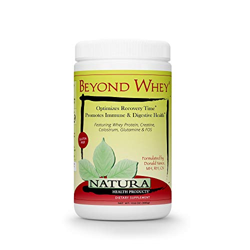 Natura Health Products - Beyond Whey Grass Fed Whey Protein Concentrate - GMO, Hormone, Gluten Free - Natural Maximum Recovery with Creatine, Magnesium, and Glutamine - 300 Grams (10.6 Ounces) Powder