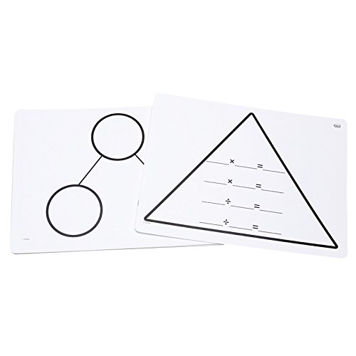 Didax Educational Resources Write-On/Wipe-Off Fact Family Triangle Mats: Multiplication Math Resource ()