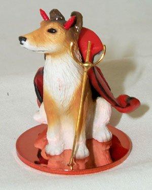 CHIHUAHUA Tan White Devil Dog Tiny One Figurine Statue