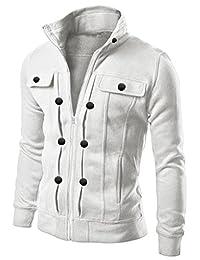 Azbro Men's Highneck Zip Up Jacket