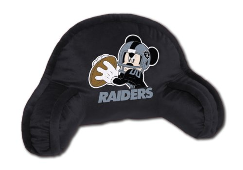 Nfl Bedrest Pillow - The Northwest Company Officially Licensed NFL Oakland Raiders Mickey Mouse Plush 12