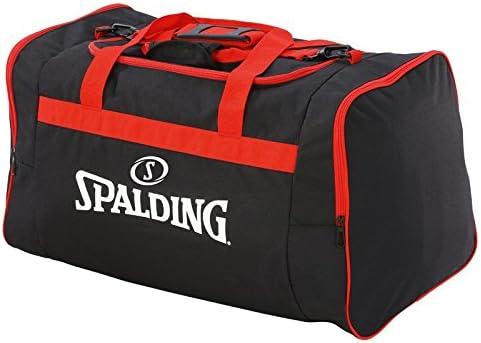 Sac de sport noir//rouge SPALDING Poign/ée Grand compartiment TEAM BAG LARGE