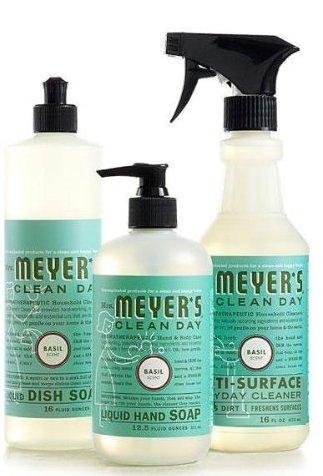 Mrs. Meyers Clean Day Basil Kitchen Basics Set (Meyers Hand Soap Radish)