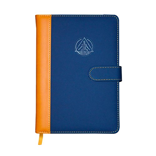 Deluxe Leather Undated Daily Gratitude Life Goal Productivity Planner Calendar & Personal Organizer, Academic Journal, Day To Day Agenda Blue