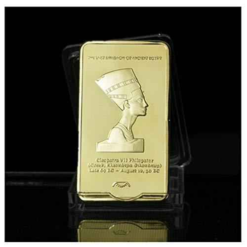 (zcccom The 1 Oz Golden Layered Steel Bar Cleopatra VII Egypt Legend )
