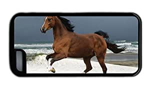 Hipster fashion iPhone 5C cases Horse Beach Black for Apple iPhone 5C